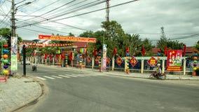 Banner het vieren 89ste Verjaardag van de Communistische Partij in Vietnam royalty-vrije stock afbeeldingen