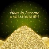Banner hoe te een miljonair te worden Stock Foto