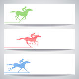 Banner with horserace Royalty Free Stock Images