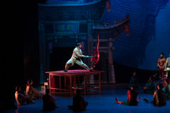 The banner of human body-Acrobatic showBaixi Dream Night Stock Image