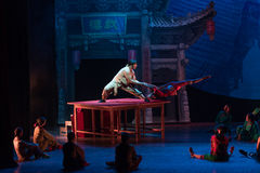 The banner of human body-Acrobatic showBaixi Dream Night Royalty Free Stock Photos