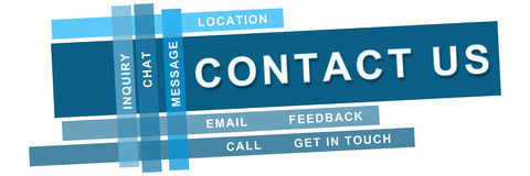 Contact Us Blue Strips Royalty Free Stock Images
