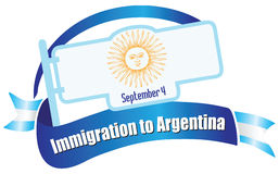 Banner Immigration in Argentina Royalty Free Stock Photo