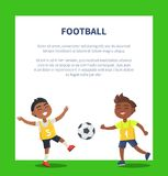 Banner with Indian Boys Playing Football Vector vector illustration