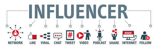 Banner Influencer concept Stock Image