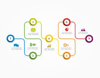 Banner infographic design template. Vector illustration Royalty Free Stock Photos