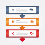Banner infographic design template. Vector illustration Stock Photos