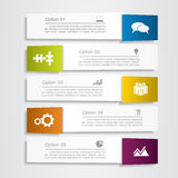 Banner infographic design template. Vector illustration. Banner infographic design template with place for your data. Vector illustration Royalty Free Stock Photos