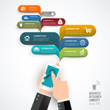 Banner infographics smartphone. Stock Photos