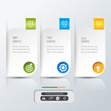 Banner infographics  template vector. Abstract 3D Modern digital template vector  banner infographics Royalty Free Stock Image