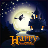 Banner with the inscription congratulation Happy Halloween Stock Image