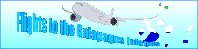 Banner with the inscription Flights to the Galapagos Islands Royalty Free Stock Images