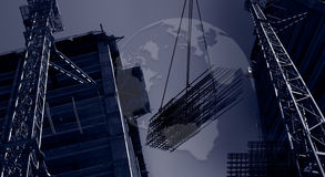 Banner international construction. Construction for visual collage work Stock Photography