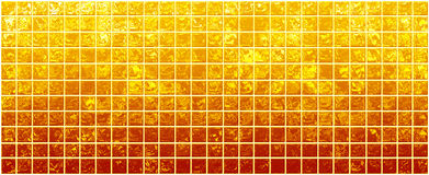 Banner of the iridescent  golden  squares Stock Photo
