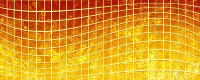 Banner of the iridescent  golden  squares Royalty Free Stock Photos