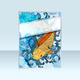Banner with japanese style koi Stock Photo