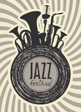 Banner for jazz festival Royalty Free Stock Image