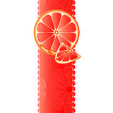 Banner with juicy slices of grapefruit Royalty Free Stock Images