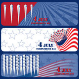 Banner July 4 Independence Day Stock Photos