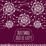 Banner Just smile and be happy Royalty Free Stock Photography
