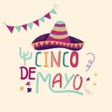 Banner of kaart voor Cinco de Mayo-viering