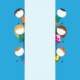 Banner kids Stock Images
