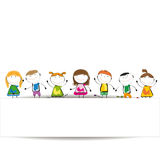 Banner kids Royalty Free Stock Images