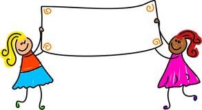Banner kids stock illustration