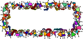Banner Kids Royalty Free Stock Image