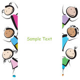 Banner kids stock photography
