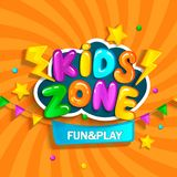 Banner for kids zone. Banner for kids zone in cartoon style. Place for fun and play. Vector illustration vector illustration