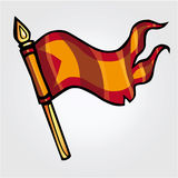 Banner of knights Stock Image
