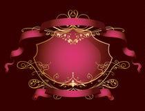 banner kolor różowy dekoracyjne Obrazy Stock
