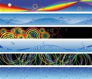 banner kolorowe światła zestawu sześciu Zdjęcia Stock