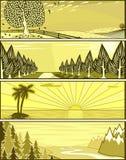 banner krajobrazu Obrazy Stock