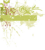 banner kwiat crunch Obrazy Stock