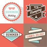 Banner label summer Stock Images