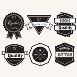Banner label  vintage elements Stock Photo