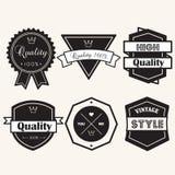 Banner label  vintage elements Stock Photo