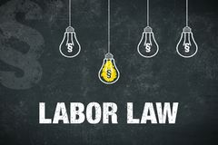 Banner labor law Royalty Free Stock Image
