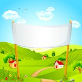 Banner in Landscape Royalty Free Stock Photography