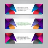 Banner layout template vector design. Banner business template vector design Stock Image