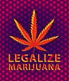 Banner for legalize marijuana with cannabis leaf Stock Photo