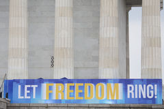 Banner for Let Freedom Ring Anniversary Royalty Free Stock Images