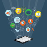 Banner for on line education, e-book Royalty Free Stock Photography