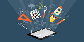 Banner for on line education Royalty Free Stock Photography