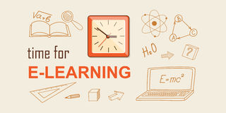 Banner for on line education Stock Image