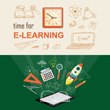 Banner for on line education Stock Photo