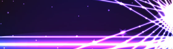Banner line light effect space Royalty Free Stock Image
