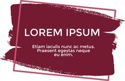 Banner lorem ipsum, red color Royalty Free Stock Photography
